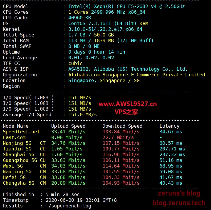 2020 06 20 19 34 59 - 阿里云香港轻量应用服务器评测,1核1G 30M 24元/月,低价VPS